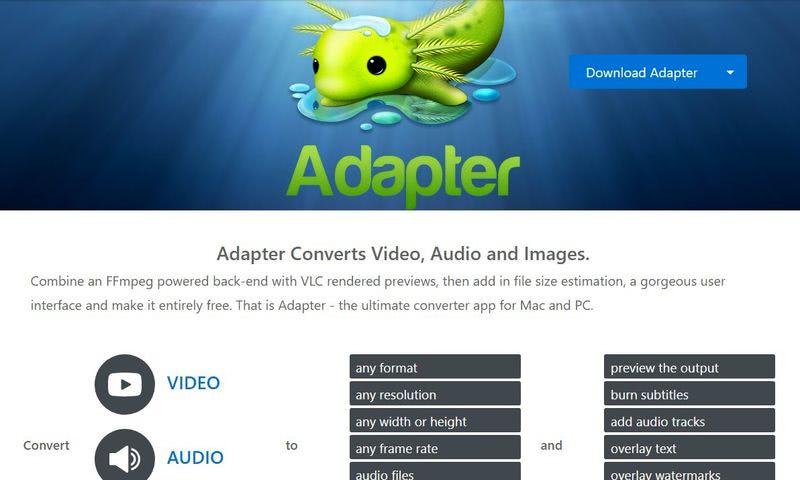 Convertidor gratuito de imágenes - Adapter