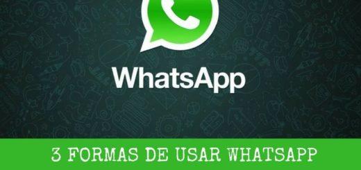 3 formas sencillas de usar WhatsApp en el ordenador