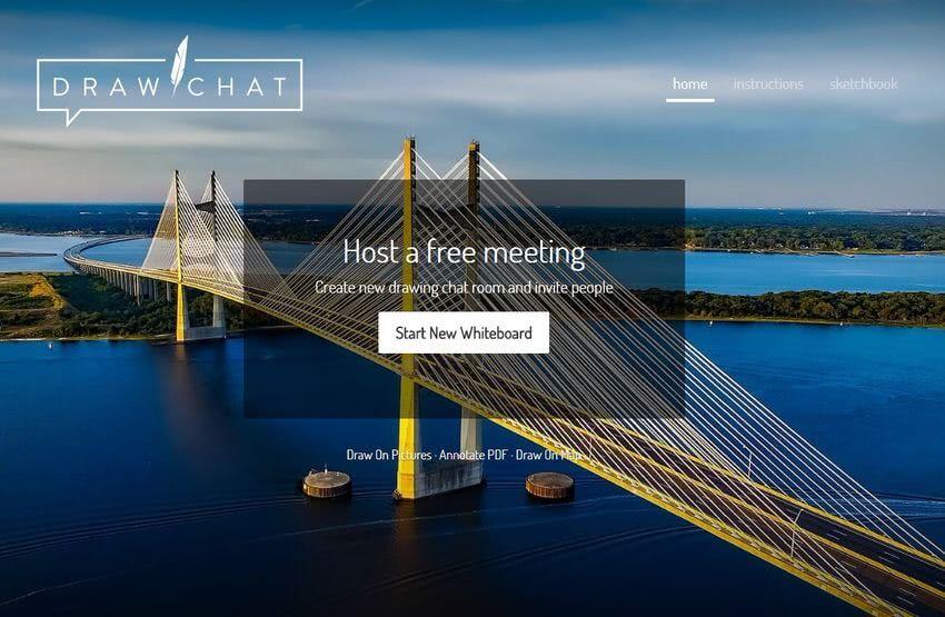 Draw Chat: web gratuita para videoconferencia grupal, con chat y pizarra