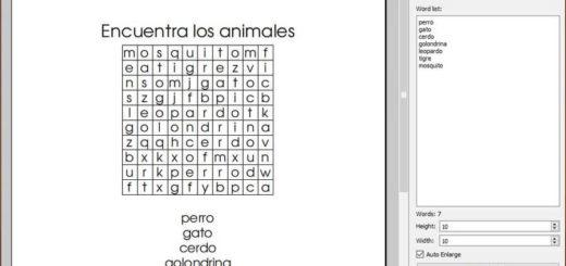 Generar sopas de letras imprimibles gratis con Word Search Creator