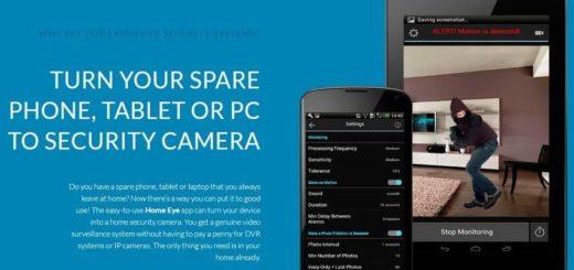 Home Eye: convierte la webcam o un teléfono en cámara de seguridad