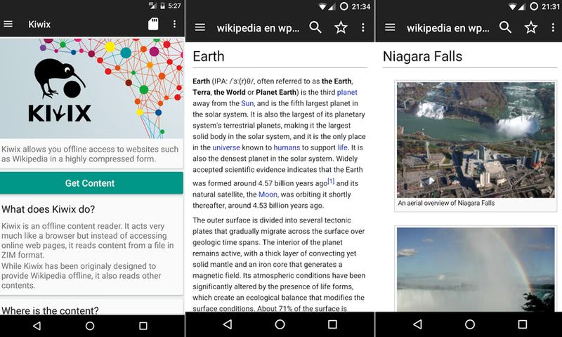 Kiwix: app Android que te ofrece la Wikipedia offline