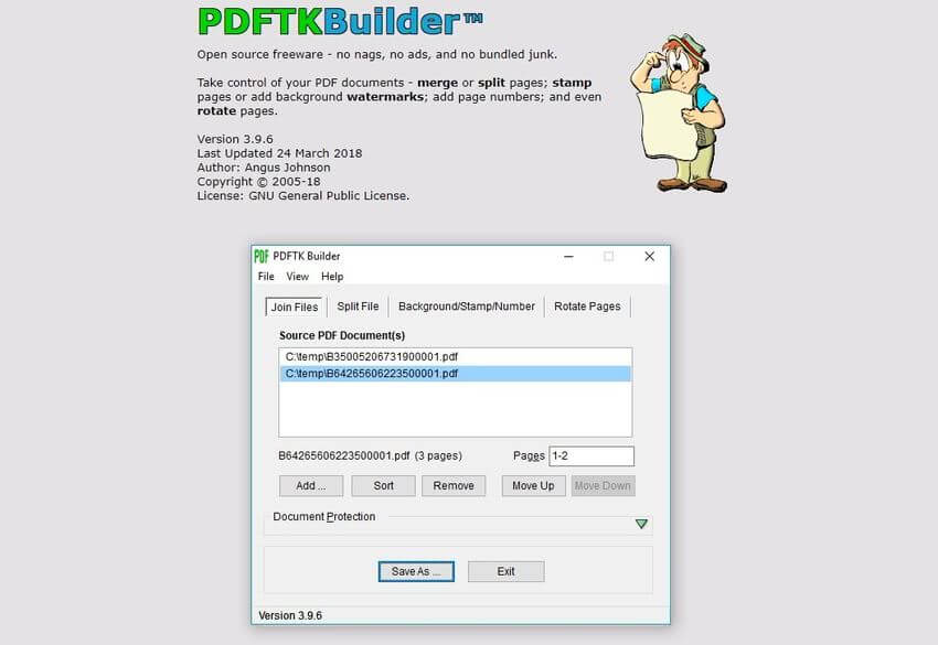 PDFTK Builder: software gratis para editar documentos PDF