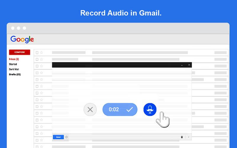 SmallTalk: extensión Chrome para grabar y adjuntar mensajes de voz