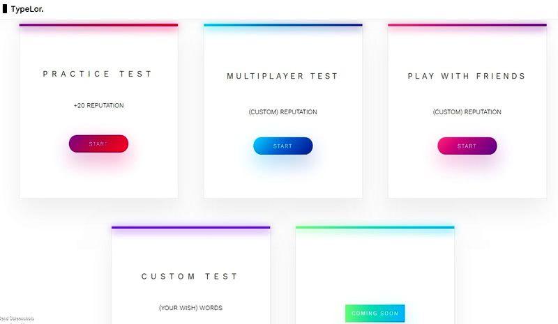 Typelor: la mejor aplicación web para practicar mecanografía