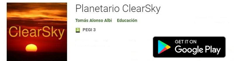 Instalar Planetarios para Android - Planetario ClearSky