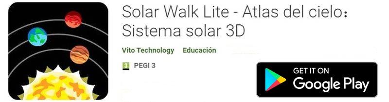 Instalar Planetarios para Android - Solar Walk Lite