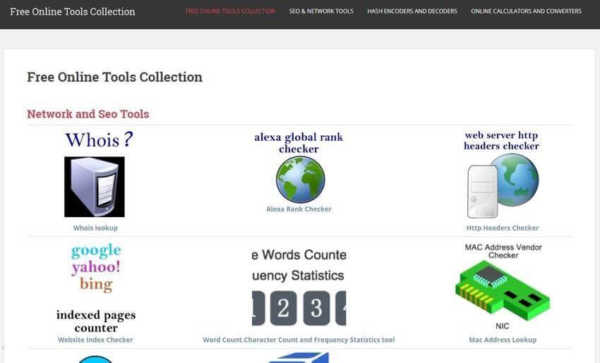 Colección de aplicaciones web gratuitas para realizar distintas tareas