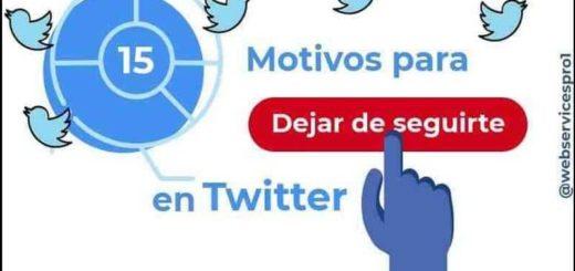 Perder seguidores en Twitter