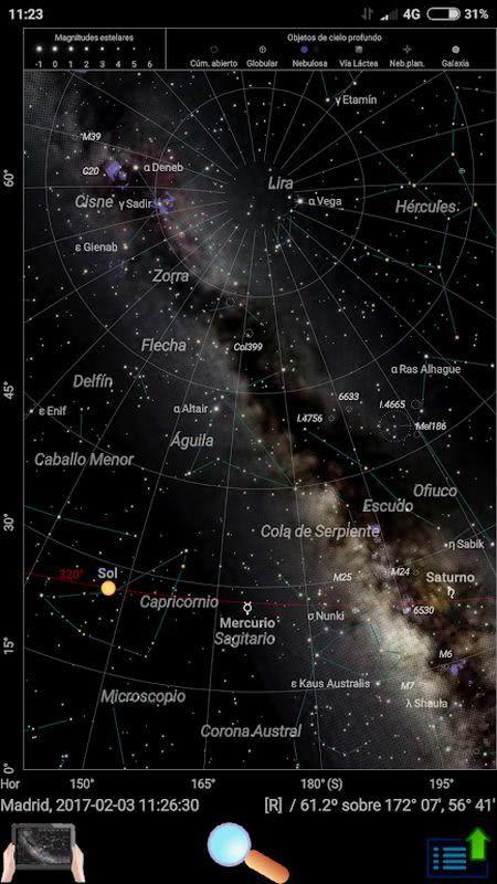 Planetarios para Android - Planetario ClearSky