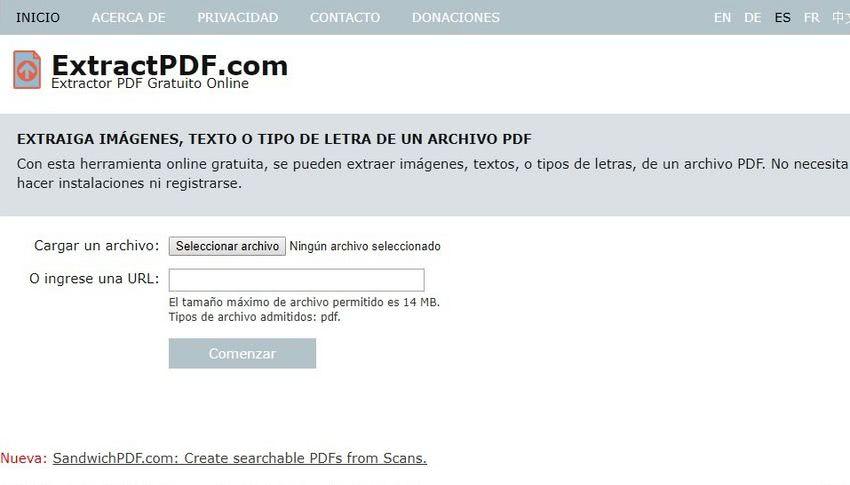 ExtractPDF ExtractPDF: extraer tipografías, textos e imágenes de documentos PDF