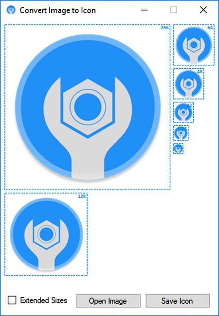 ImageToIcon ImageToIcon: convertir cualquier imagen en iconos de diferentes tamaños