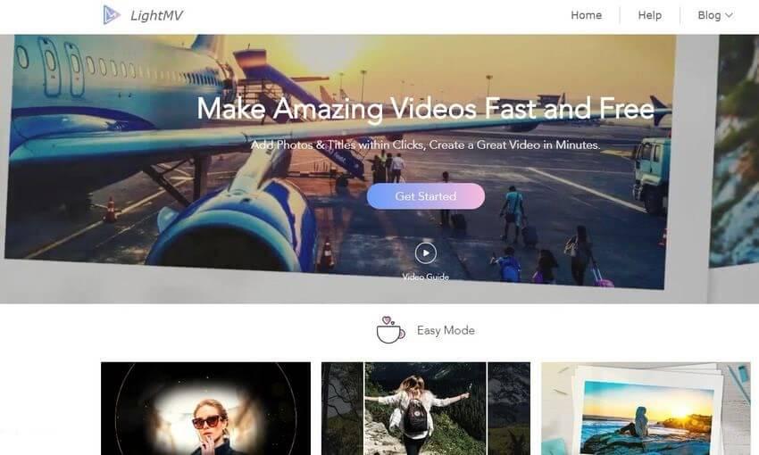 LightMV: crea espectaculares vídeos con tus imágenes de forma gratuita