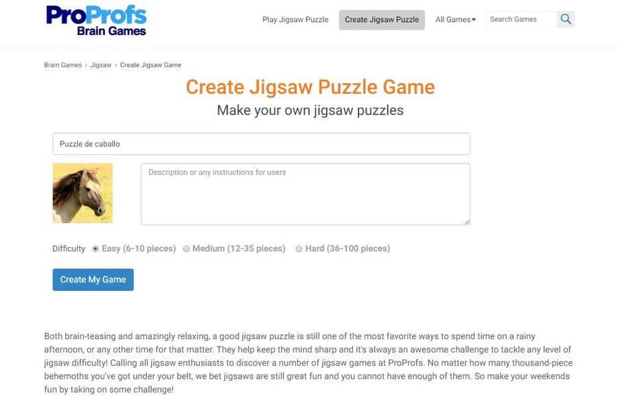 Páginas para crear puzzles o rompecabezas online y gratis
