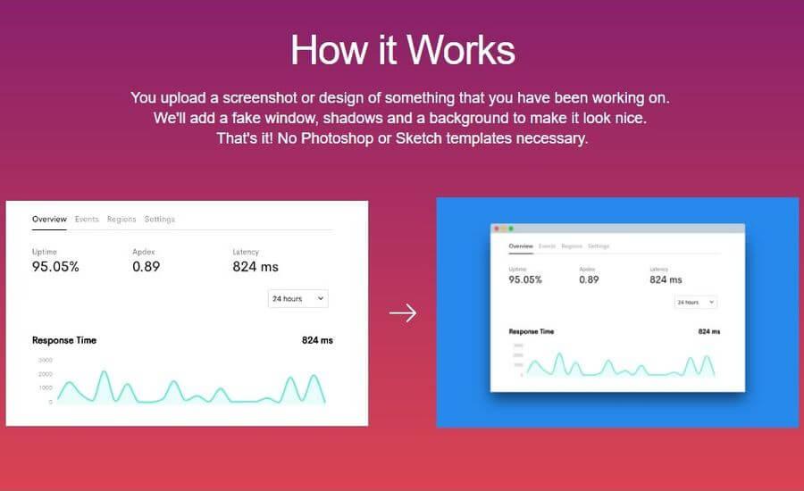 Screely: convierte capturas de pantalla y diseños en elegantes imágenes para compartir