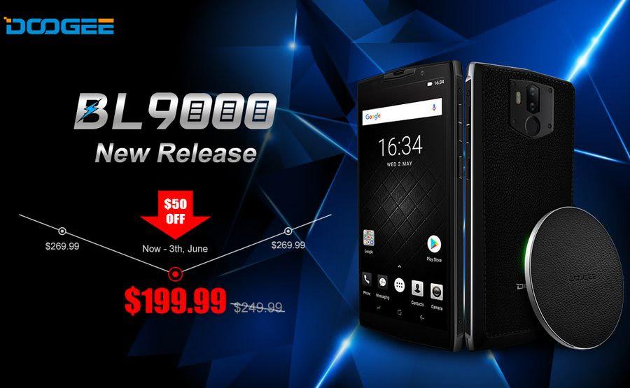 Smartphone DOOGEE BL9000 ya disponible en Banggood a mitad de precio y con $50 de descuento