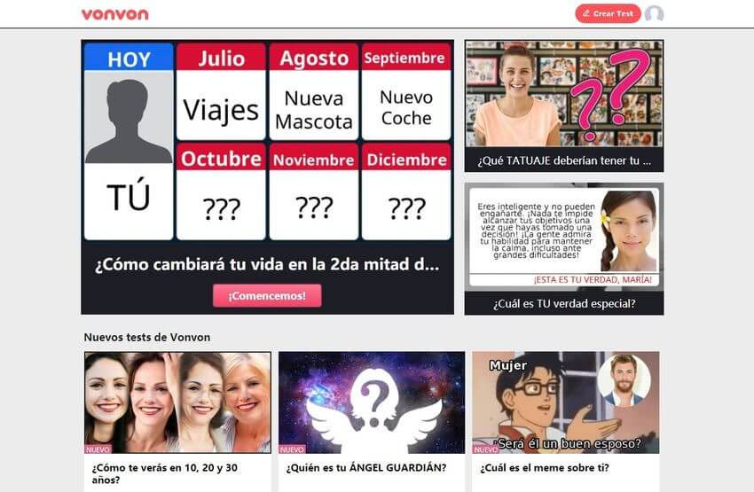 Vonvon Vonvon: los tests más divertidos y originales para compartir en Facebook