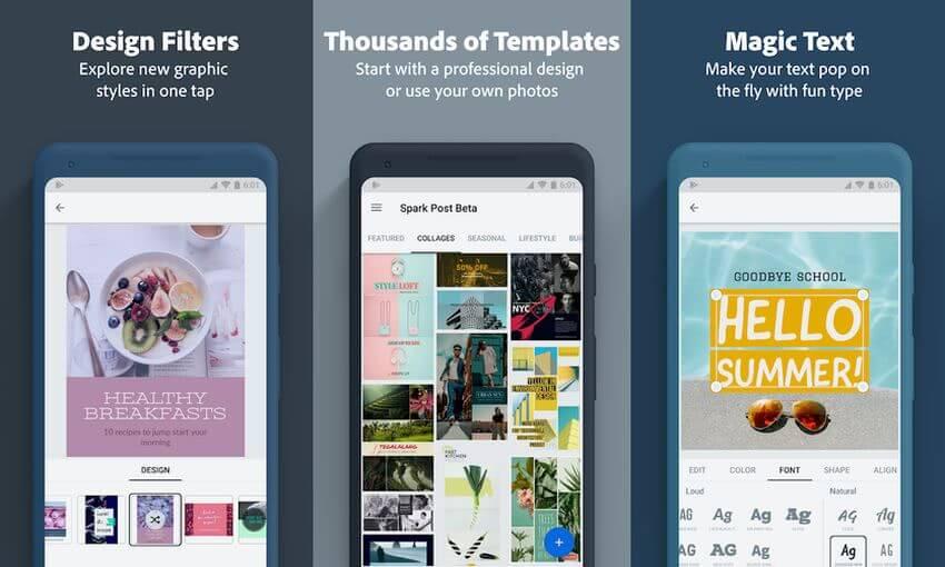 Adobe Spark Post: app Android para diseñar imágenes sociales y más