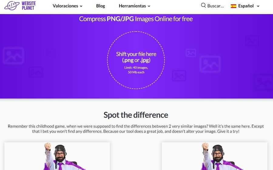 Compresor de imágenes PNG y JPG Excelente compresor de imágenes PNG y JPG totalmente gratuito y online