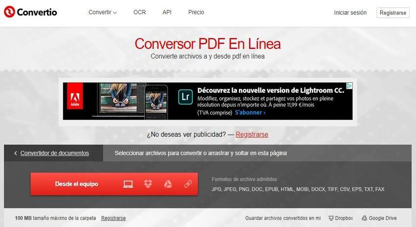Convertir página web a PDF gratis con estas 5 aplicaciones web
