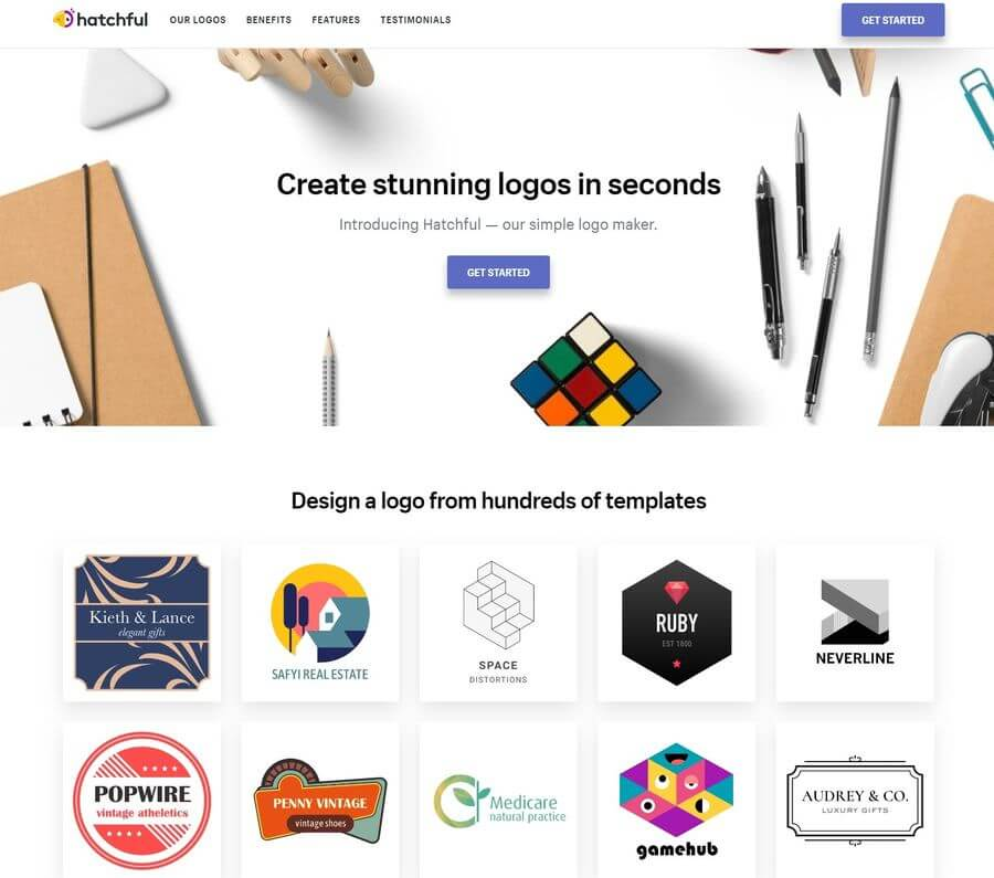 Crear logotipos online gratis de forma realmente sencilla con Hatchful