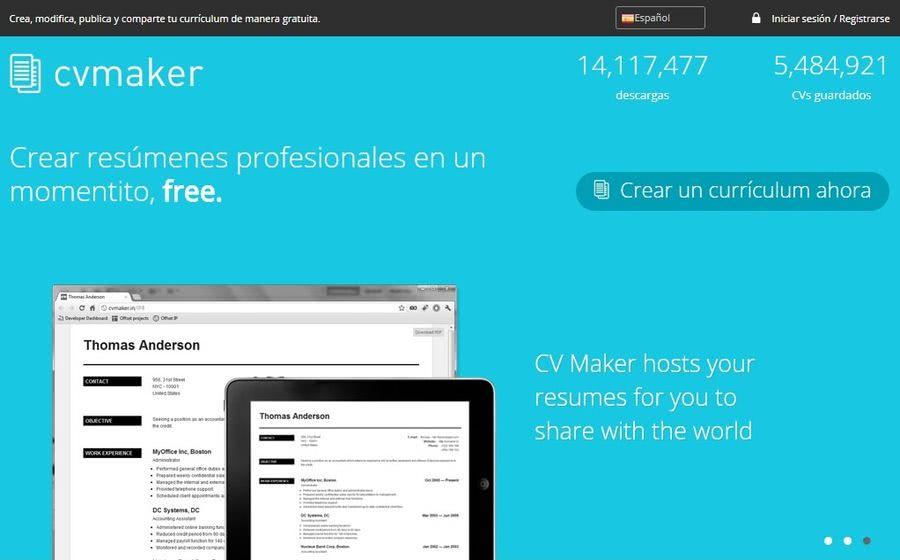 Mejores páginas para crear Currículum CV Maker 3 mejores páginas para crear currículum de forma gratuita