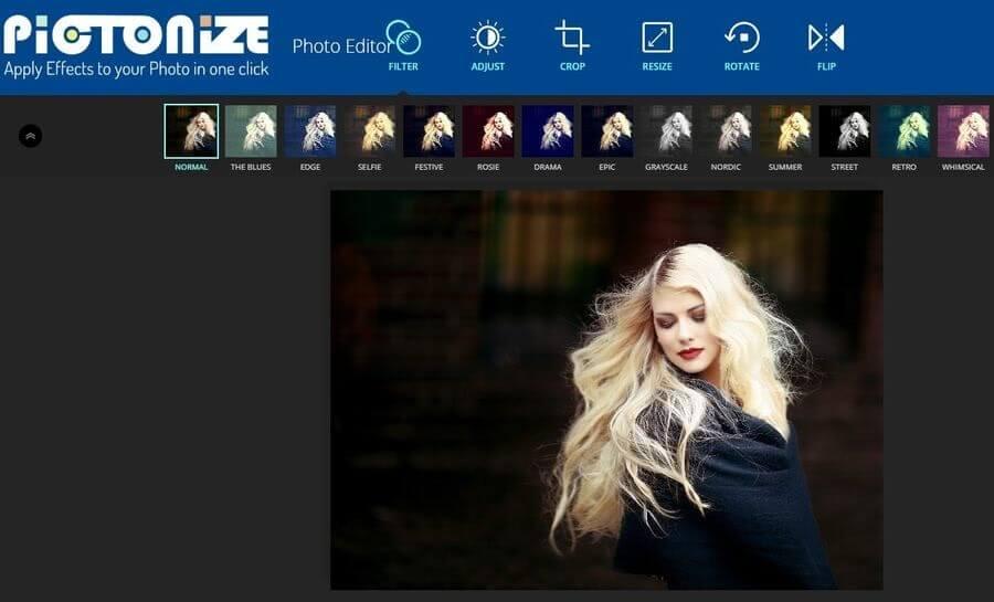 Pictonize: genial aplicación web para aplicar filtros y editar tus fotos