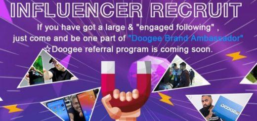 Programa de influencers del fabricante DOOGEE