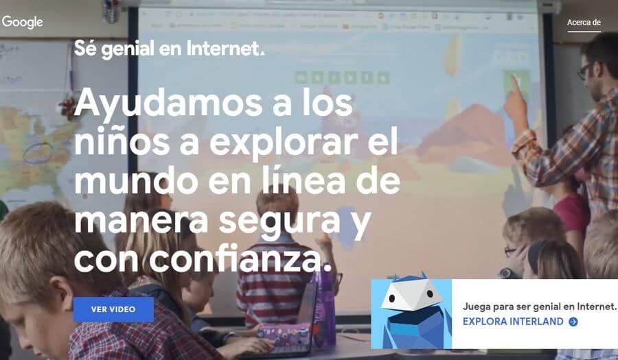 Sé genial en Internet Sé genial en Internet: iniciativa de Google para enseñar a los niños un uso adecuado de Internet