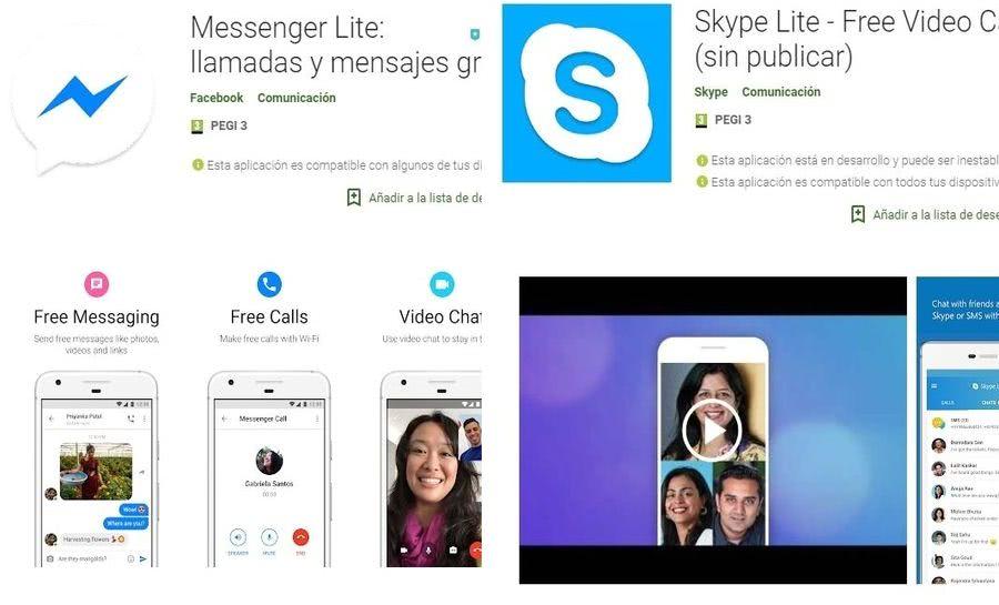 Aplicaciones LITE para Android 5 aplicaciones LITE para teléfonos que cuentan con pocos recursos