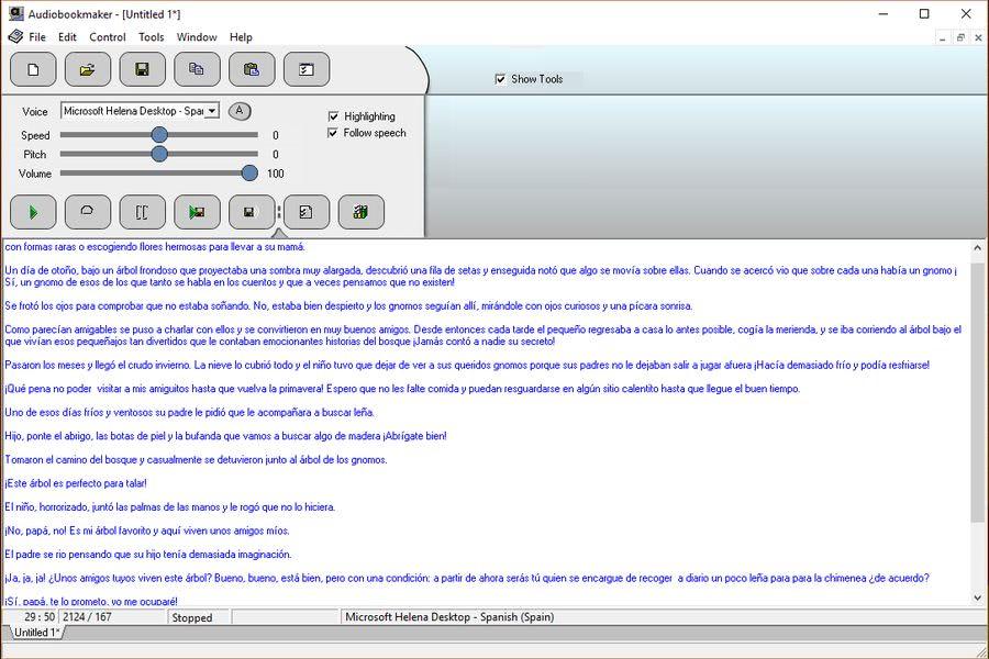 Convertir texto en audiolibro Convertir texto en audiolibro gratis con el software Audiobookmaker