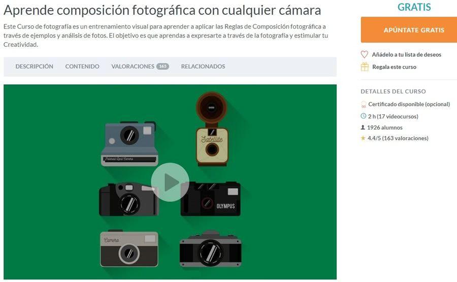 Composición fotográfica: curso gratuito para cualquier tipo de cámara