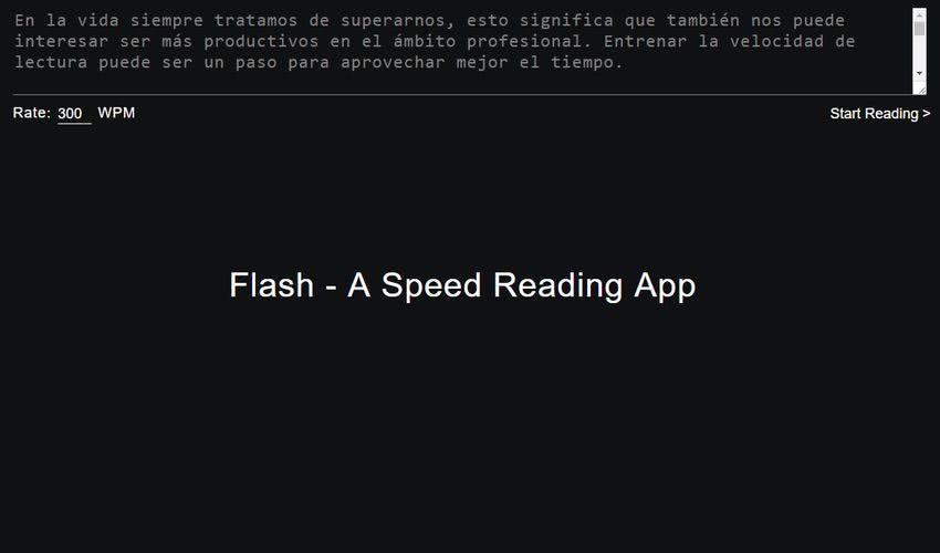 Entrenar la velocidad de lectura online Entrenar la velocidad de lectura online y gratis con la aplicación web Flash