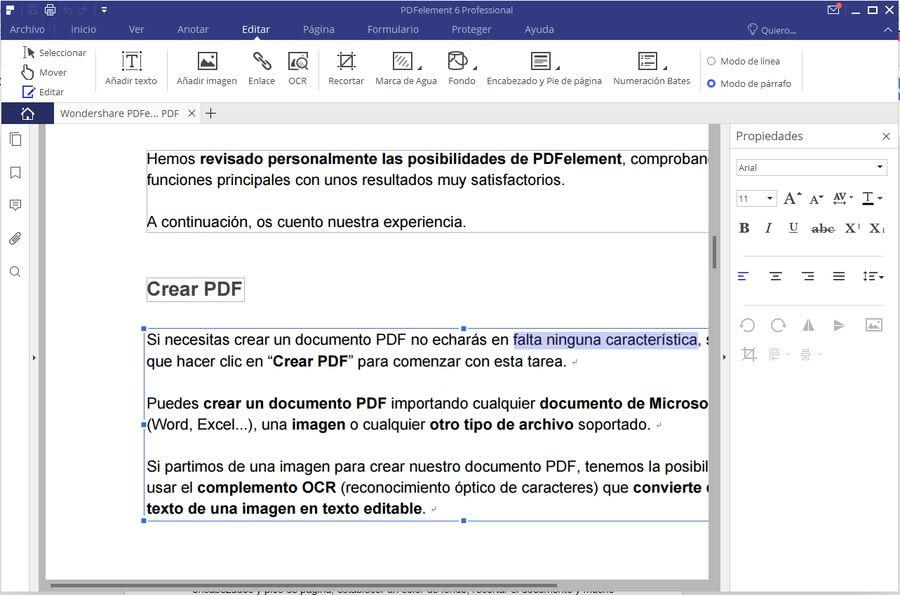 Wondershare PDFelement editar PDF Wondershare PDFelement: solución más completa para visualizar, editar y convertir PDF