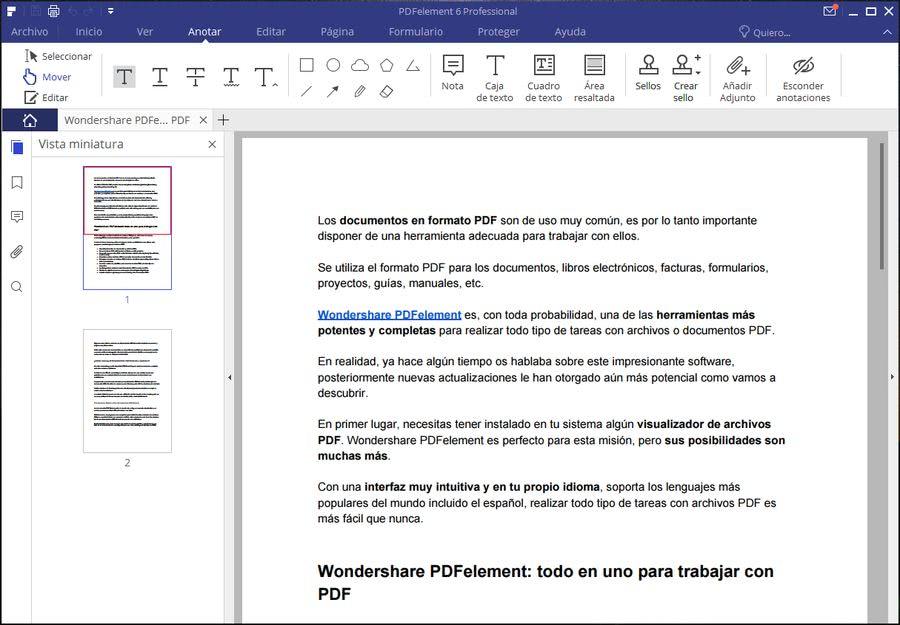 Wondershare PDFelement Wondershare PDFelement: solución más completa para visualizar, editar y convertir PDF