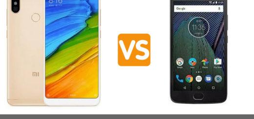 Xiaomi Redmi Note 5 vs Motorola Moto G5 Plus