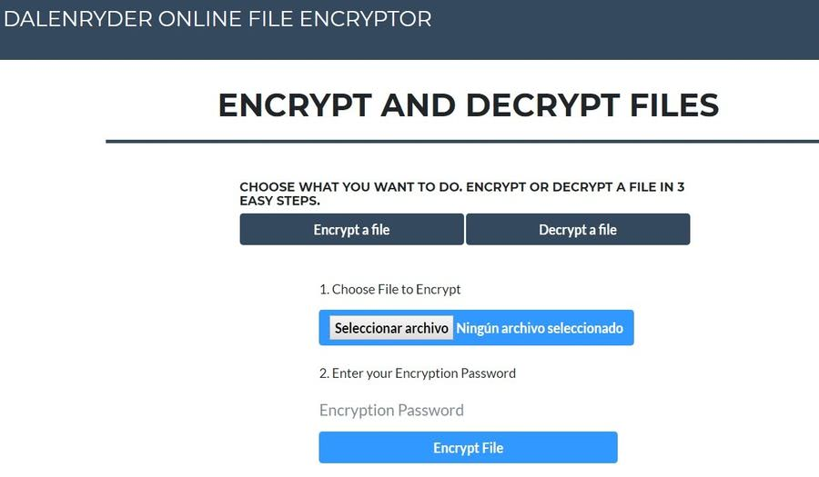 Cifrar archivos en línea Cifrar archivos en línea fácilmente con esta aplicación web gratuita