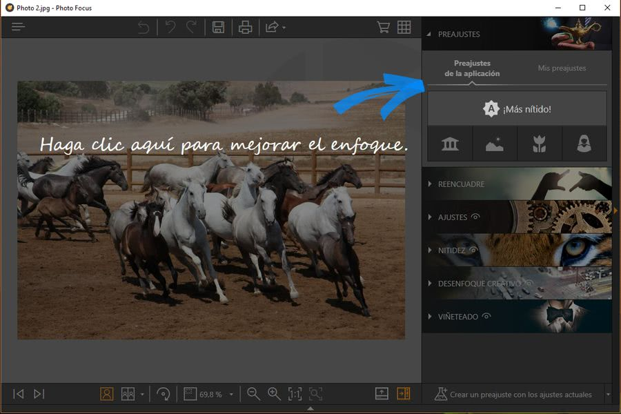 Fotophire Toolkit photo focus Fotophire Toolkit: espectacular editor para hacer magia con tus fotos