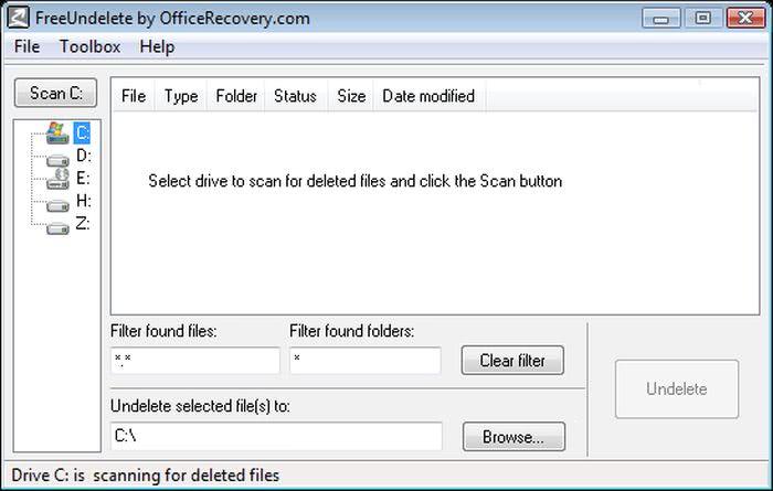 FreeUndelete FreeUndelete: sofware gratis para recuperar archivos eliminados o perdidos