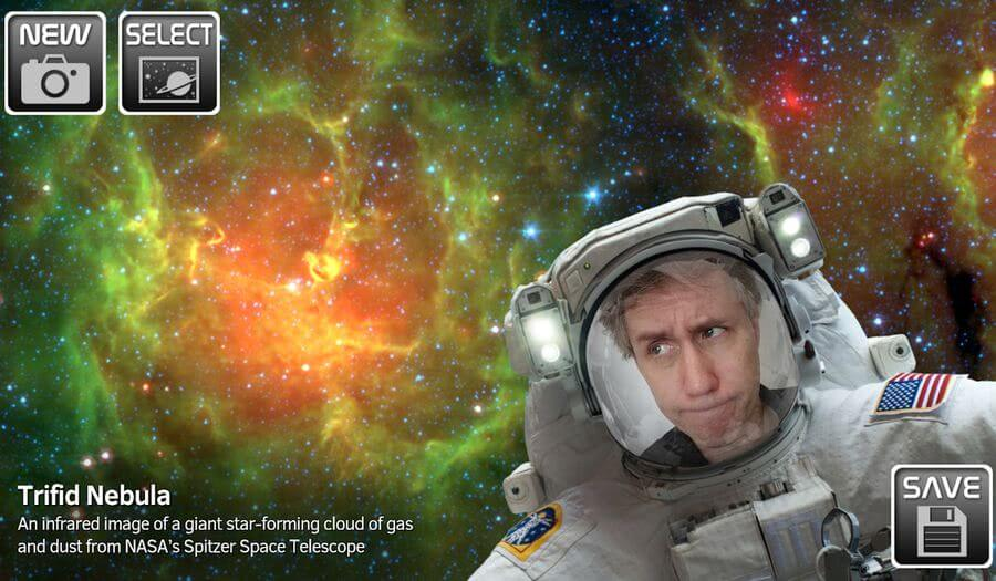 NASA Selfies NASA Selfies: app Android de la NASA para tomar selfies con fondos espaciales