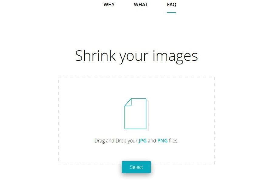 Shrink Me Shrink Me: compresión de imágenes online sin límite de peso