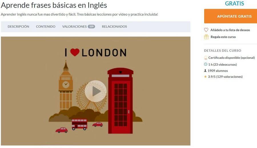 Aprender frases comunes en inglés con este curso gratuito