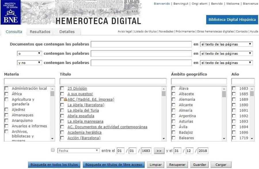 3 sitios que nos ofrecen una hemeroteca digital online