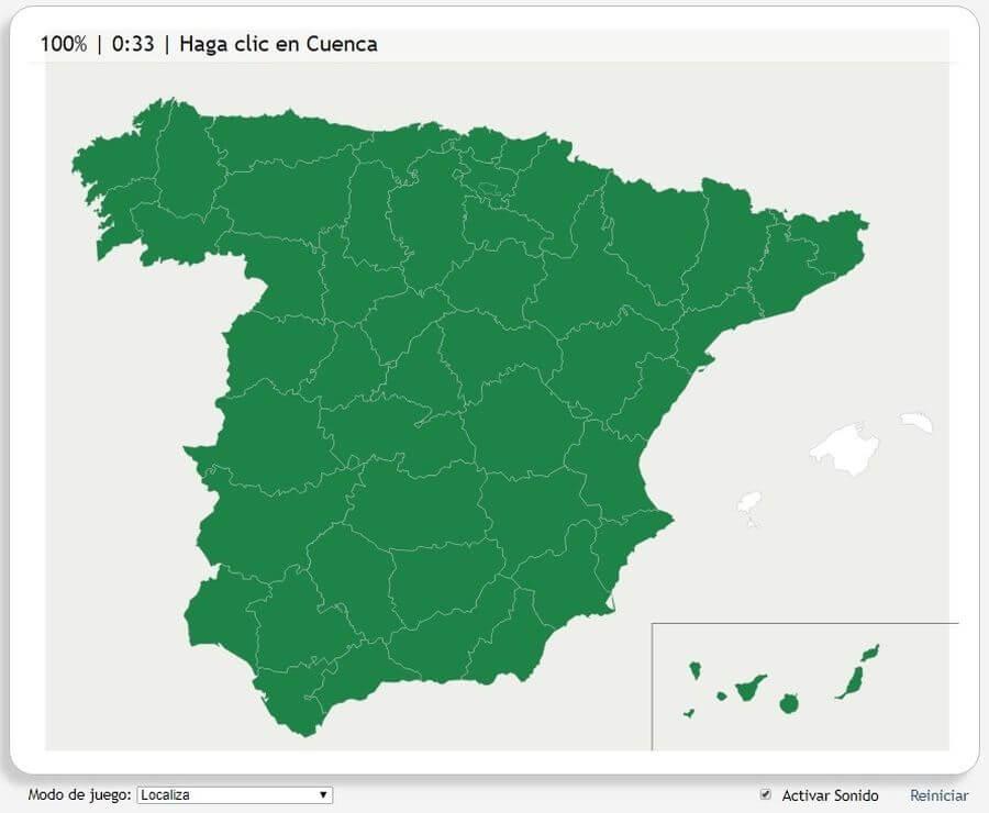 Juegos de Geografía encontrar provincias Juegos de Geografía online para localizar sobre un mapa: Seterra