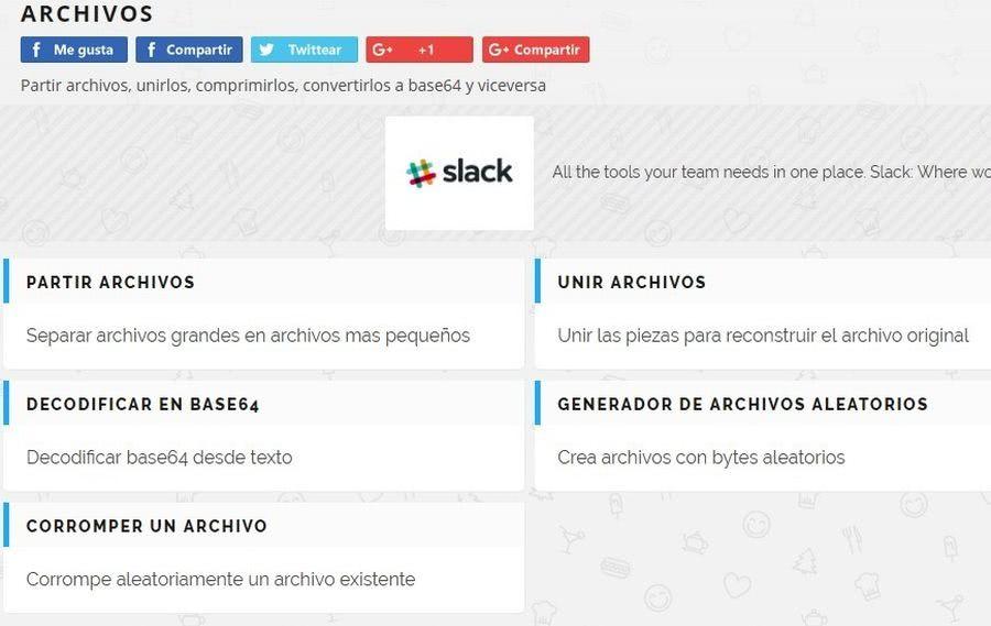 Partir y unir archivos online Partir y unir archivos online con una utilidad web gratuita