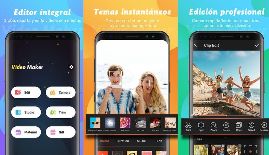 Video Maker: espectacular editor de vídeo gratuito para Android