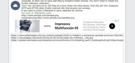 Subir archivos a Dropbox desde URL