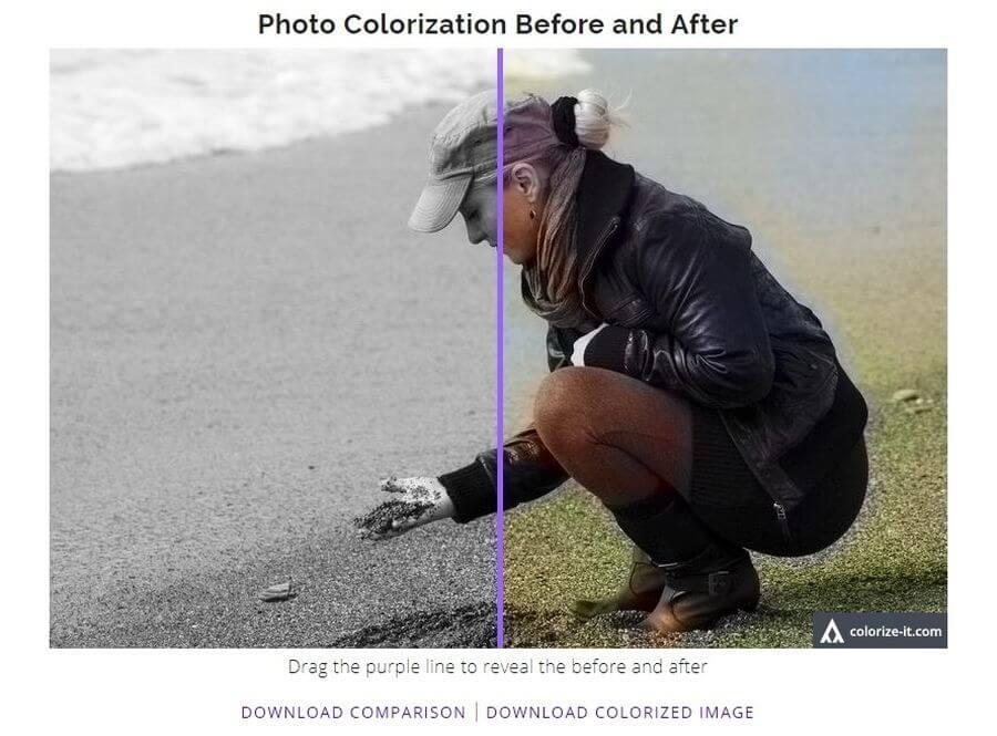 Colorear fotos en blanco y negro de forma automática y online