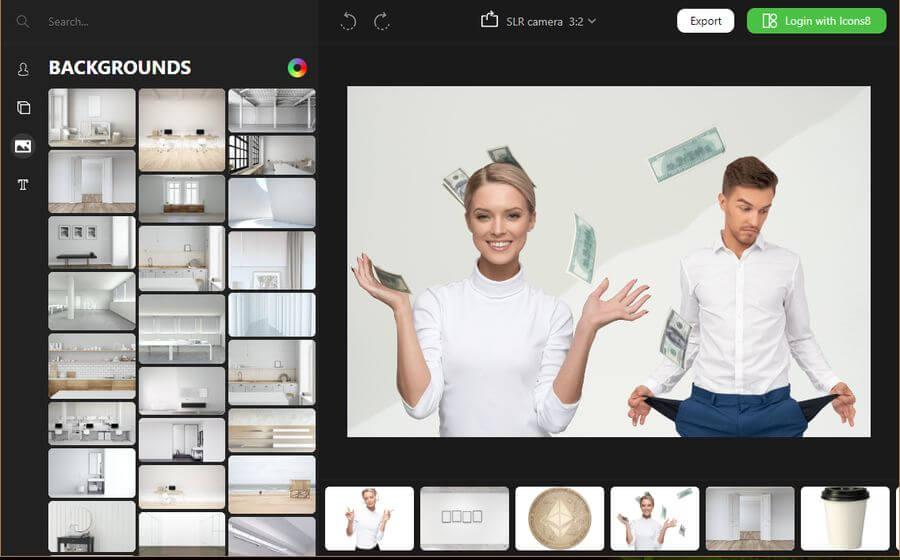 Moose Photo Creator: genial aplicación web para crear fotos profesionales
