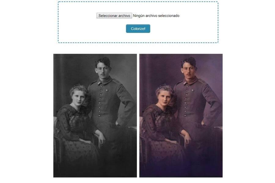 Colorear fotografías antiguas online, gratis y de forma automática